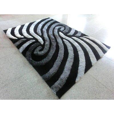 Black/Grey Area Rug Rug Size: 711 x 910
