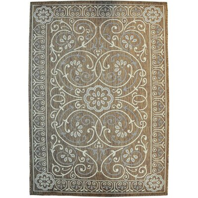 Bryner Brown Area Rug Rug Size: 53 x 72