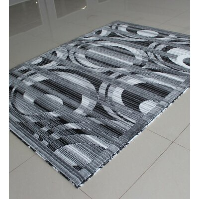 Black/White Area Rug Rug Size: Runner 2' x 7'2