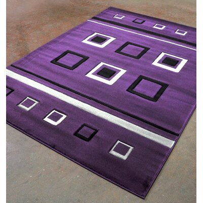 Purple Area Rug Rug Size: 53 x 72