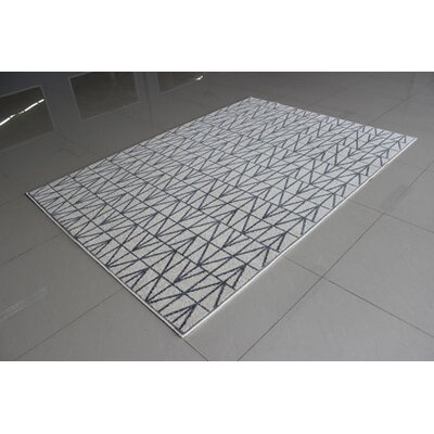Ivory/Gray Area Rug Rug Size: Runner 2 x 72