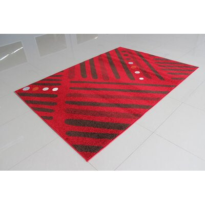 Red/Brown Area Rug Rug Size: Runner 2 x 72