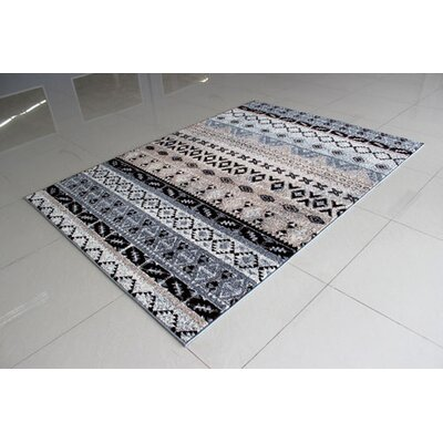 Gray Area Rug Rug Size: 3 x 5
