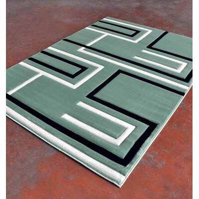 Light Green Area Rug Rug Size: 53 x 72