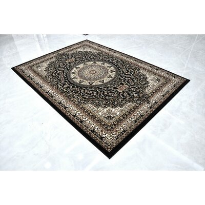 Black Area Rug Rug Size: Runner 27 x 910