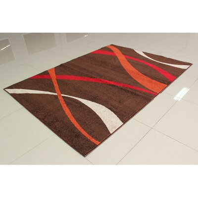 Brown/Red Area Rug Rug Size: 711 x 910
