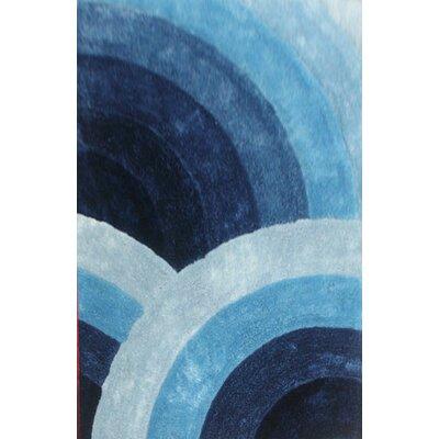 Towonna Blue Area Rug Rug Size: 53 x 72