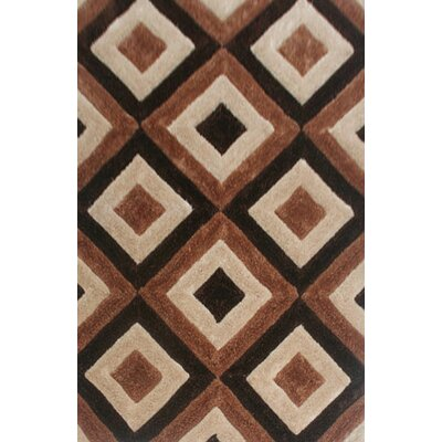 Etienne Brown Area Rug Rug Size: 53 x 72