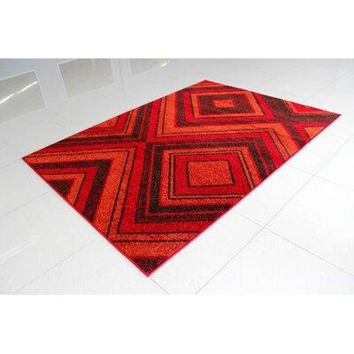 Red Area Rug Rug Size: 3 x 5
