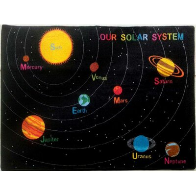 Dierking Black Area Rug Rug Size: 3 x 5