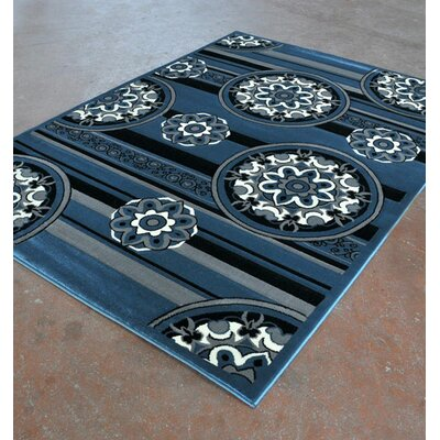 Blue/Black Area Rug Rug Size: Runner 2' x 7'2