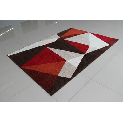 Brown Area Rug Rug Size: 5'3