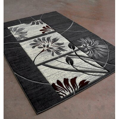 Antracite/Black Area Rug Rug Size: Runner 2 x 72