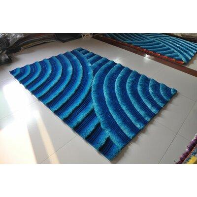 Turquoise Area Rug Rug Size: 53 x 72