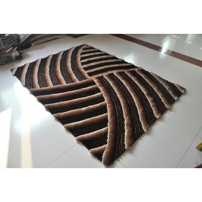 Chocolate Area Rug Rug Size: 53 x 72