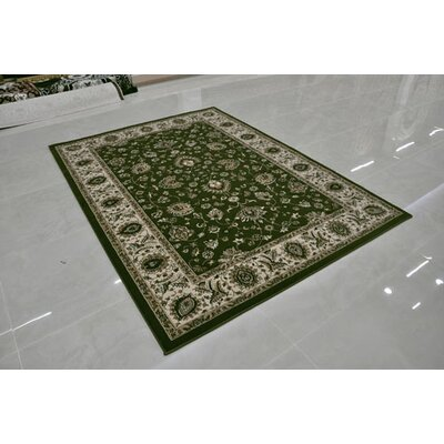 Green Area Rug Rug Size: Rectangle 10 x 13