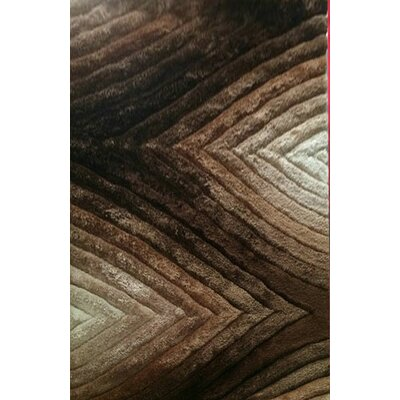 Primm Brown Area Rug Rug Size: 53 x 72