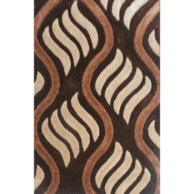 Gess Brown Area Rug Rug Size: 53 x 72