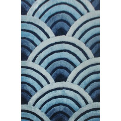 Mithun Blue Area Rug Rug Size: 4 x 6