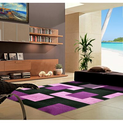 Purple Area Rug Rug Size: 711 x 910