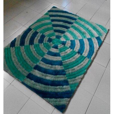 Light Blue Area Rug Rug Size: 711 x 910