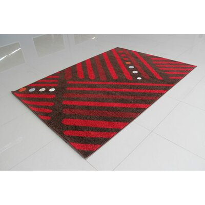 Brown/Red Area Rug Rug Size: 53 x 72