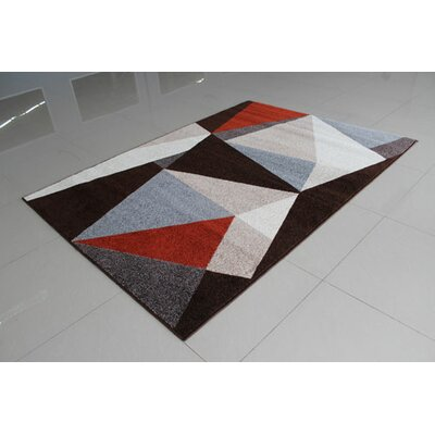 Brown/Gray Area Rug Rug Size: 53 x 72
