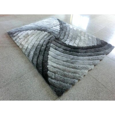 Grey Area Rug Rug Size: 53 x 72