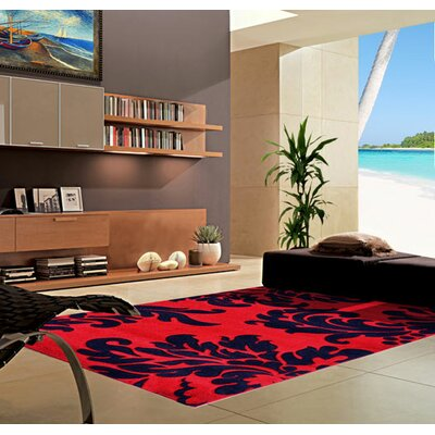Dark Red Area Rug Rug Size: Runner 2' x 7'2