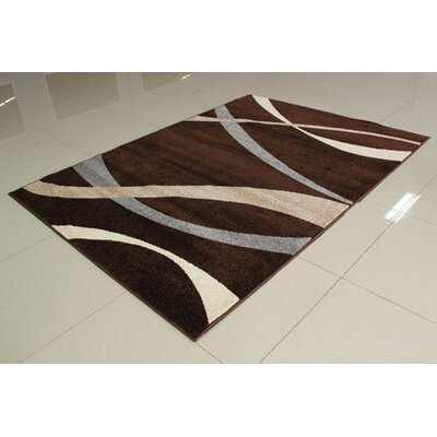 Brown/Gray Area Rug Rug Size: 711 x 910