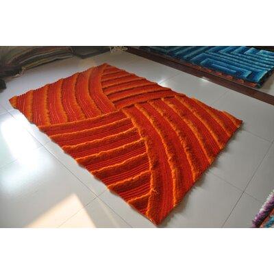 Orange Area Rug Rug Size: 53 x 72
