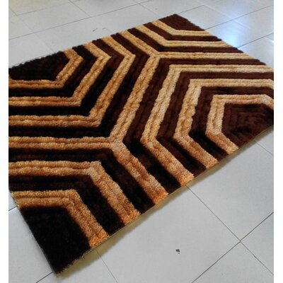 Brown Area Rug Rug Size: 711 x 910