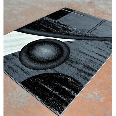 Antracite/Black Area Rug Rug Size: 53 x 72
