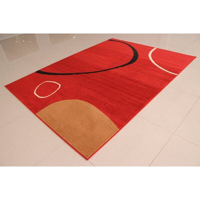 Orange Area Rug Rug Size: 711 x 910