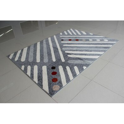 Gray Area Rug Rug Size: 53 x 72