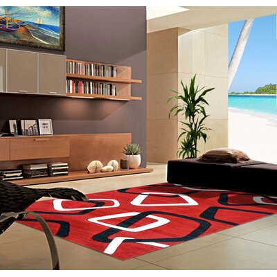 Dark Red Area Rug Rug Size: 711 x 910