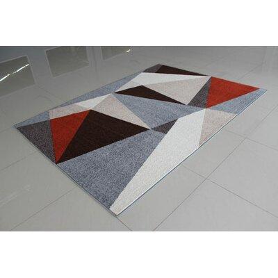 Gray/Terrcotta Area Rug Rug Size: 711 x 910