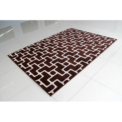 Brown/Beige Area Rug Rug Size: 3 x 5