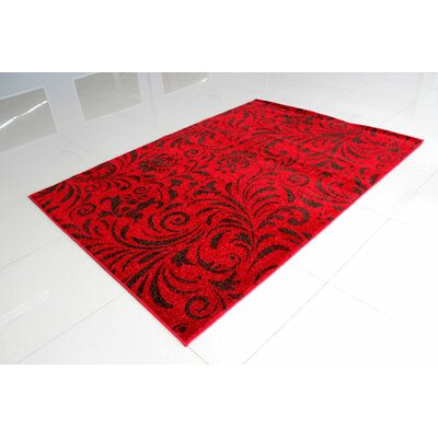 Red/Brown Area Rug Rug Size: 4 x 6