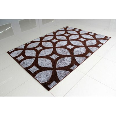 Brown/Gray Area Rug Rug Size: 2 x 3