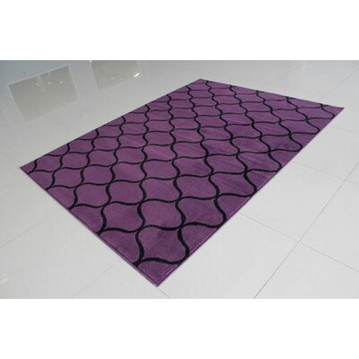 Purple/Black Area Rug Rug Size: 4 x 6