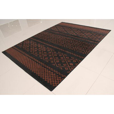 Black/Brown Area Rug Rug Size: 711 x 910