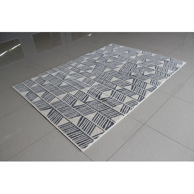 Ivory/Gray Area Rug Rug Size: 711 x 910