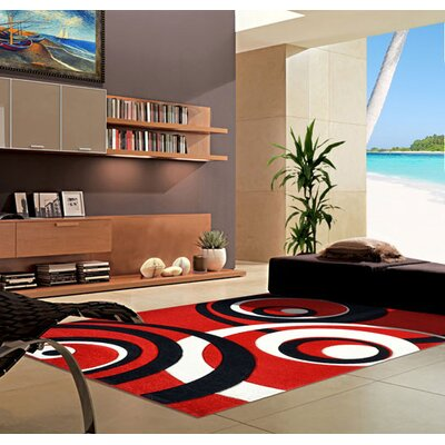 Dark Red Area Rug Rug Size: 2 x 3