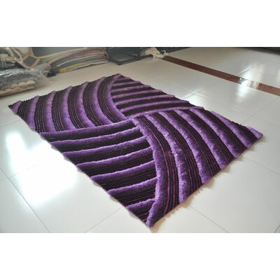 Purple Area Rug Rug Size: 5'3
