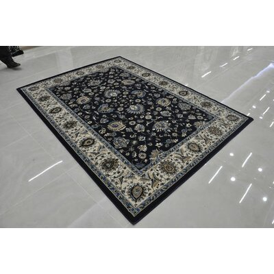 Navy Area Rug Rug Size: Rectangle 10 x 13