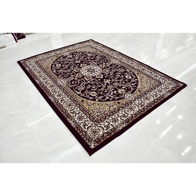 Burgundy Area Rug Rug Size: Rectangle 10 x 13