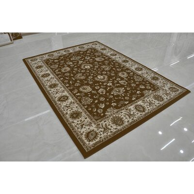 Brown Area Rug Rug Size: Round 8 x 8
