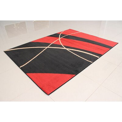 Black/Orange Area Rug Rug Size: 3 x 5
