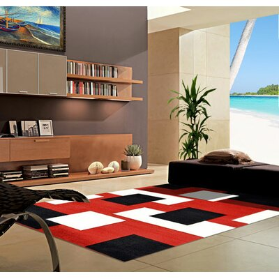 Dark Red Area Rug Rug Size: 53 x 72